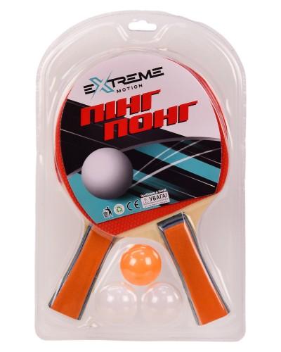 Теннис настольный TT2134 2 ракетки,3 мячика в слюде(толщина 7 мм)р-р упаковки – 19.5*29.5 см
