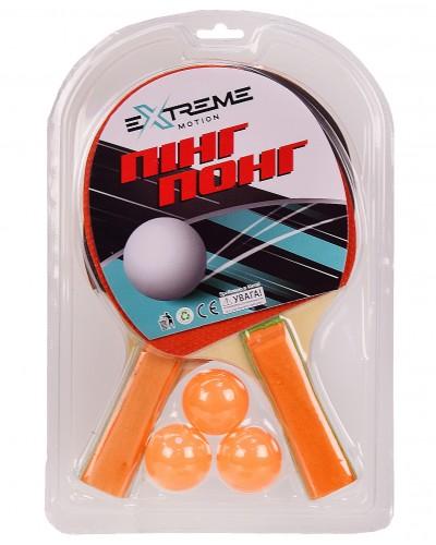 Теннис настольный TT2109 2 ракетки, 3 мячика в слюде (толщина 6 мм) р-р упаковки – 19.5*29.5 см