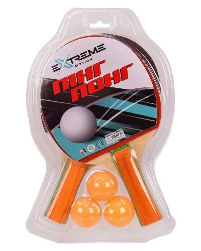 Теннис настольный TT2112 2 ракетки, 3 мячика в слюде(толщина 7 мм) р-р упаковки – 19*30 см