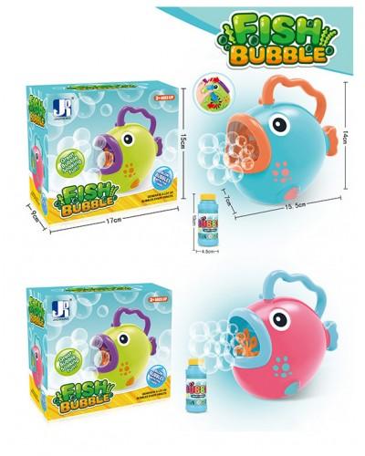Мыльные пузыри P8808B рыбка с 1 запаской, MIX цветов, 9*17*15 см