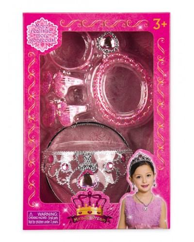 Аксессуары для девочек QS00026C корона, браслеты, заколки, в кор.19*5.5*28см