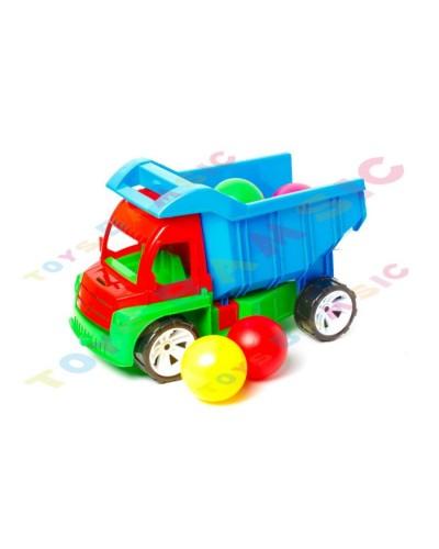 """Машина """"Самосвал Алексбамс"""" и 8 шариков больших, арт. 086, Bamsic"""