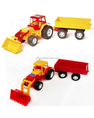 Трактор с ковшом и прицепом, арт. 007/2, Bamsic