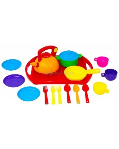 """Набор посуды """"Юная хозяюшка"""" №8 (17 эл.), арт. 048/8, Bamsic"""