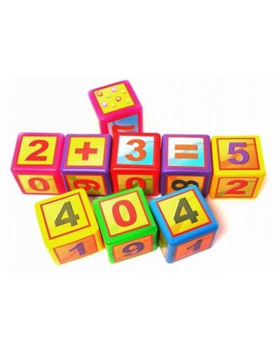 """Набір дитячий """"Кубики великі Математика"""" арт020/3"""