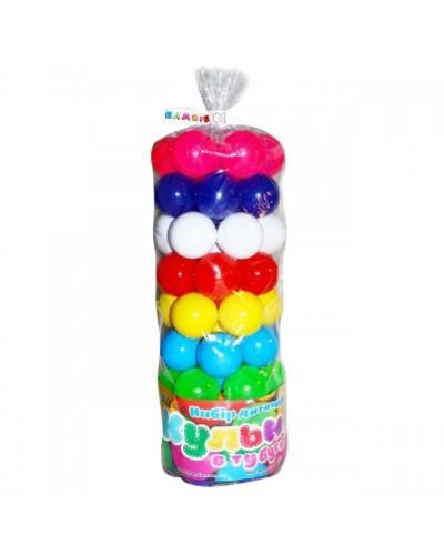 """Набір дитячий """"Кульки малi 50 шт"""" в сітці   диам 6 см вакуум арт 0263"""
