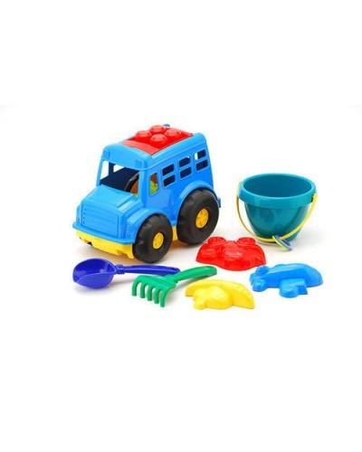 Детский набор, автобус, ведерко, лопатка, грабли, три пасочки