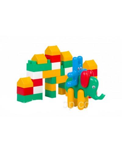 Конструктор, заец, курица, слон