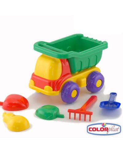 Детский набор для песка: машинка, лопатка, три пасочки