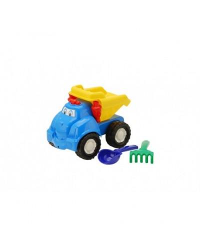 Детский набор: машинка, лопатка, грабли