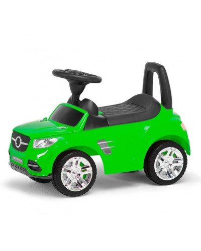 Машина-каталка MB, цвет: салатовый, с электроникой (гр. уп-ка: гф/ящ)