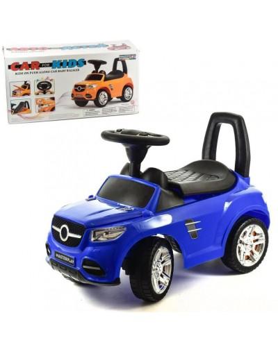 Машина-каталка MB, цвет: синий, с электроникой (гр. уп-ка: гф/ящ)