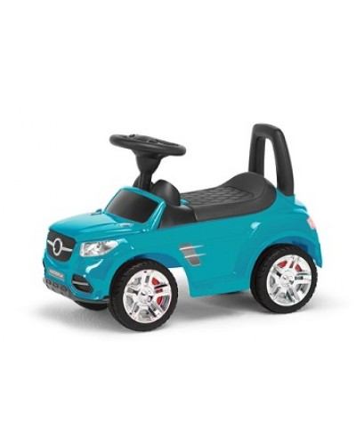 Машина-каталка RR, цвет: бирюзовый, с электроникой (гр. уп-ка: гф/ящ)