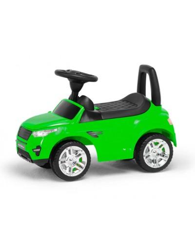 Машина-каталка RR, цвет: салатовый, с электроникой (гр. уп-ка: гф/ящ)