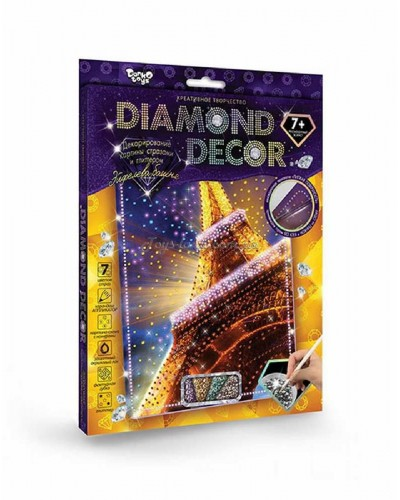"Декоративная картина стразами и глитером ""Diamond Decor"" (ас.), арт. 7207 (DD-01-01/11), Danko Toys"